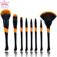 Бейсбол Девушка Макияж Кисти 8 Косметические Паритки Устанавливает кисти Инструменты Beauty Tools1