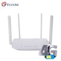 4G Wifi Router Unlock VPN Modem 3G WI-FI Sim Card Hotspot CPE 4 Antenna 32 Users VOLTE WAN LAN Internet Wireless Routers Modify IMEI LTE Dongle with Slot