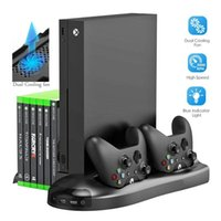 Game Controllers & Joysticks 5 In 1 Vertical Stand For Xbox One X Cooling Fan With Controller Charger Charging Station Discs Storage And 3 U