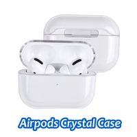 Caja de carga de la caja del auricular de PC transparente de cristal claro para Apple Airpods 1 2 3 Pro Coque