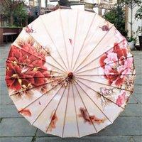 Parapluies femmes pleuvoir la pluie chinoise fengshui silk danse japonais poney poney décoratif bambou bambou huile papier parasol