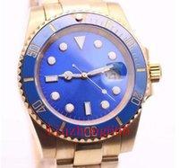 Nuevos relojes de pulsera de lúos azules en línea Hombres de acero PVD automático 40mm cerámico bisel negro dial Glide Lock Flod Spod Sapphire Glass 116613LB Mens