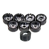 Beads Light 5/8/15/25/30/14/60/90/120 graus LED lente com suporte preto para 1W 3W 5W alta lâmpada de energia 10pcs