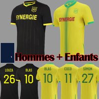 21 22 FC Nantes Futbol Formaları Tayland Ev Maillot De Foot 2021 2022 Jersey Simon Louza Bir Toure Blas Coco Coulibaly Futbol Gömlek Tops