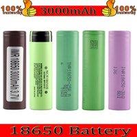 Top Quality HG2 30Q VTC6 3000mAh NCR 3400mAh 25R 2500mAh 18650 batteria E cig mod ricaricabile cellulare li-ion batteria nave veloce
