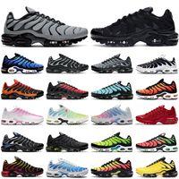 2021 nike tn air max plus shoes se hombres mujeres zapatos para correr triple negro blanco OG Hyper Blue Total Crimson para hombre entrenador moda zapatillas deportivas corredor