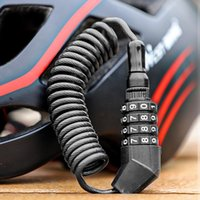 Bike Locks WEST BIKING Bicycle Helmets Lock Cable Wheel Anti-theft Coded Accessories