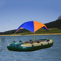 Tents And Shelters 2-4 Persons Rubber Boat Awning Canopy Inflatable Fishing Hovercraft Folding Sunshade Sun Shelter Accessories