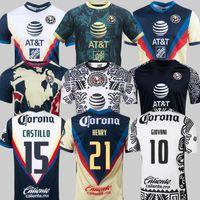 Liga MX 21 22 22 22 Club América Futebol Jerseys Terceiro Henry 3Rd Giovani Cáceres B.Valdez 2021 Home Away Maillot Men Kit Kits Football Camisas