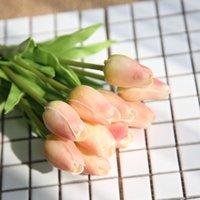 Fleurs décoratives PU mini tulipe Mariage artificiel décoration de la maison de décoration fausse fleur