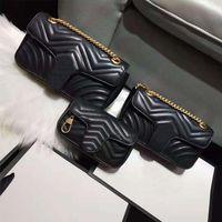 2021 Moda Luxo Senhoras Mini Corrente Bolsa De Ombro Tamanho 18 CM22CM25CM Designer De Design Clássico de Alta Qualidade Com Caixa Original