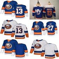 """Нью-Йорк Острове на льду Хоккей 13 Mathew Barzal Jersey 22 Mike Bossy 27 Anders Lee Blank Stadium серии ретро """"НХЛ"""""""