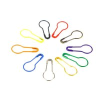 Colorful 100pcs lot Knitting Crochet Locking Stitch Marker Hangtag Safety Pins DIY Sewing tools Needle Clip Crafts Accessory DH8575