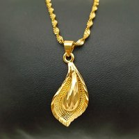14 K Solid Gold GF Halskette Ohrring Set Frauen Party Geschenk Große Blatt Sets Tägliche Kleidung Mutter Geschenk DIY Charms Girls Fine Schmuck 45 U2