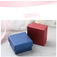 Boxes Packaging Display Jewelry 5 X 5 X 3cm Diamond Pattern Gift Present Case Earring Ring Bracelet Necklace Jewelry Box jlldDO