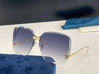 2001 여성을위한 선글라스 패션 랩 선글라스 Frameless 코팅 자외선 보호 렌즈 탄소 섬유 다리 여름 스타일 최고 품질 2001s