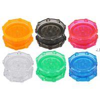 L'ultima varietà di taglie, 100mm size Diamond Plastic Smoke Grinder Double Acrylic Grinder Manual Smoking Device RRD10873