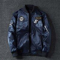 Erkek Ceket Bahar Sonbahar Beyzbol Ceket Büyük Boy Çift Yüzlü Casual erkek Pamuk Ceket Moda Amerikan Pilot MA1