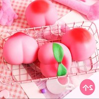 2021 Children's creative lovely toy decompression big peach pinch music vent ball student funny gift