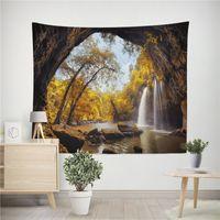 3D linda parede pendurada tapeçaria cortina cênica tabela pano paisagem yoga tapete sala de estar decoração bohemian fundo roupas