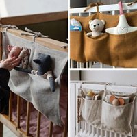 Bedding Sets Baby Bed Hanging Storage Bags Cotton Born Crib Organizer Toy Diaper Pocket For Set Accessories Nappy Store