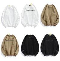 Herren Kleidung Nebelbuchstabe Männer Sweatshirts Essentials Hoodies Langarm Pullover Angst vor Gott Lässige Baumwolle Sportswear CrewNeck Essential Hoody Plus Trainingsanzug