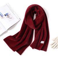 帽子、スカーフグローブセット2021デザイナー冬シールモードソリッドディックランゲグレースフェイクペルツFrauen Schall暖かいネックリンゲ