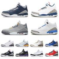 Nike Air Jordan Retro 3 Jordans 3s Jumpman aj III ثانية رجل إمرأة كرة السلة أحذية المدربين اد المتحدة الثالث بارد رمادي cour  الاسمنت الأبيض تور الأبيض الرجعية الرجال النساء أحذية
