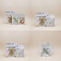 Precio al por mayor mascota holográfico almacenaje bolsas planas láser mylar foil bolsa reutilizable cosmética paquete bolso 100 PCS 430 R2
