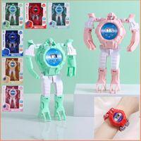 Neuheit Spiele Kreative Kindertag Puzzle Deformation Charakter Spielzeug Jungen Mädchen Student Geschenk Roboter Elektronische Uhr