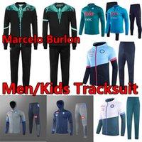21/22 Napoli Maradona Burlon Futbol Forması Nàpule 2021 Hoodies Ceketler Set Eğitim Rüzgarlık Kazak Eşofman Napoli Mertens Erkekler + Çocuklar Survetement Jogging