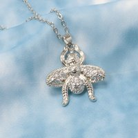 Collar Temperamento Interesante Animal Bee Colgante Nelace Micro Micro Set Shining Simple Nelace Jewelry