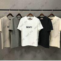 2021 Bahar Yaz Tasarımcısı Lüks Erkek T-shirt Ön 3D Silikon Logo Streetwear Gevşek Boy T Gömlek Tee Kaykay Tshirt Kadın Kısa Kollu Tops
