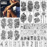 Metershine 49 Sheets Waterproof Temporary Fake Tattoo Stickers for Men Women Express Body Shoulder Neck Chest Art
