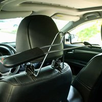 Porte-vêtements en acier inoxydable Centre d'acier en acier inoxydable Cintres d'appui-tête Homme d'appui-tête Veste Cinket Cinket Curseur Support Car fournitures de voiture