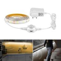 Strips Motion Sensor LED Strip Light 5M DC12V 2835 Auto ON OFF Flexible Waterproof Diode Tape Bed Kitchen Backlight Lamp +Power Supply