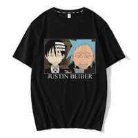 Japonés Anime Soul Eater T Shirt Impresión de moda Tshirt Summer Hombre Novedad Algodón Manga corta Camiseta Hombres Tops divertidos