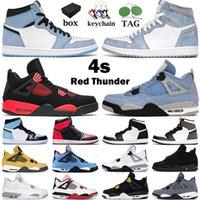 Chaussures de basket-ball hommes femmes 1s haut OG basketball shoes air jordan 1 jumpman noir or bleu université 4s rouge feu 4 Royalty Cat formateurs hommes baskets de sport