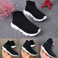 Top Quality Paris Kid Sock Shoes Speed Boy Girl Runners Fornatori Calze a maglia Calze triple S Boots Runner Sneakers Dimensioni 24-35 senza scatola