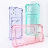 Shockproof Silicone Phone Cases coque iPhone 13 12 11 Pro Xs Max lens Protection apple SE X Xr 7 8 Plus Card Case Back Cover SAMSUNG S21 ultra S30 S31 A72 A52 S20 note20