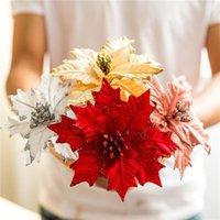 الزخرفية الزهور أكاليل 1 قطع 14 سنتيمتر الفانيلا كبيرة ارتفع الاصطناعي زهرة رؤساء للمنزل الزفاف الديكور سكرابوكينغ diy عيد الميلاد