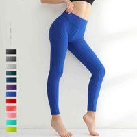 2021 womens Leggings luxury fashion sports fitness legging Yoga Pants Breathable high waist Tight-fitting hips Highlight the body