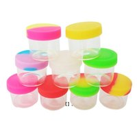 6ml Glass Jar with Silicone Lid Smoking Accessories Storage Case Colorful Mini Box Wax Portable Oil Ointment Containers HHA6314