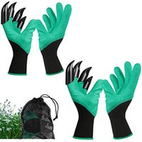 Guanti verdi con finger a punta artigli Safe Garden Supplie Regali ideali per genitori e giardinieri, scavando la semina di weeding Poking Piantatura