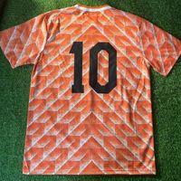 1988 Holanda Retro Fútbol Jersey Vintage Van Basten Gullit 10 Koeman Rijkaard Neeskens Krol Tailandia Calidad Uniformes Camisa de fútbol Camiseta Futbol
