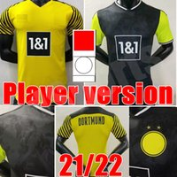 Adulto Men Player Versão Borussia Dortmund Soccer Jersey 21 22 Quarto 4º 4th 2021 2022 Camisa de Futebol Haaland Reus Bellingham Sancho Hummels Brandt Maillot de pé