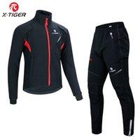 X-Tiger Cycling Jersey Set Impermeabile Abbigliamento da ciclismo in pile termico antivento Autunno Cappotto invernale MTB Bike Jerseys Sportivo