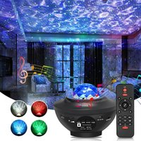 Night Lights LED Star Galaxy Projector Ocean Wave Light Room Decor Rotate Starry Sky Decoration Bedroom Lamp Gifts For Baby