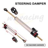Motorcycle CNC Universal Steering Damper Set Stabilizer For MT09 Kawasaki Z800 Z1000 YZF R1 GSXR1000 CBR954 CBR600RR