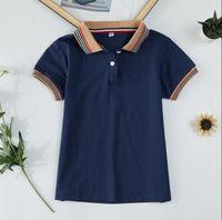 여름 아이 디자이너 티셔츠 소년 소녀 짧은 소매 면화 티셔츠 어린이 탑 십대 의류 크기 120 -160